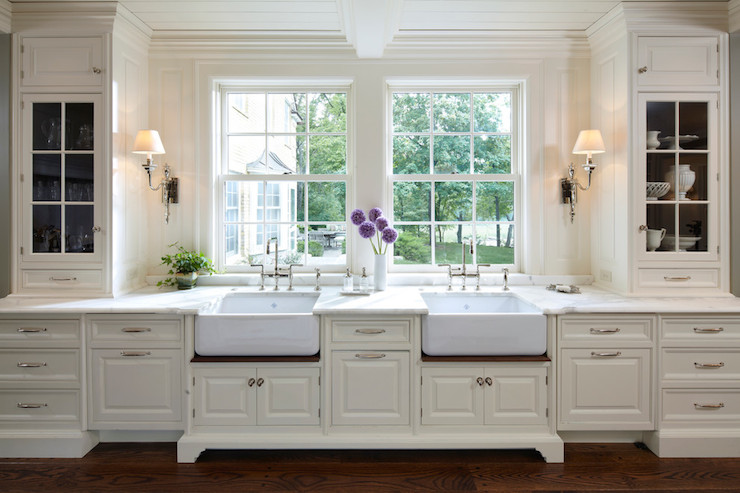 Kitchen with Two Sinks - Transitional - kitchen - Yunker Associates