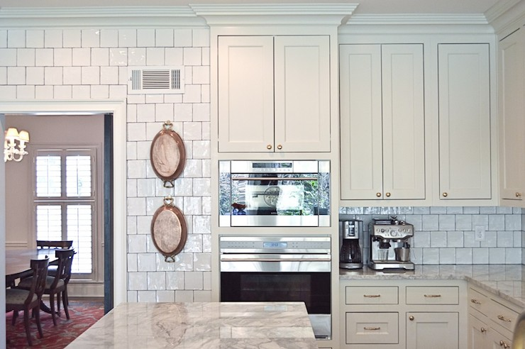 Glazed Kitchen Backsplash - Transitional - kitchen ...