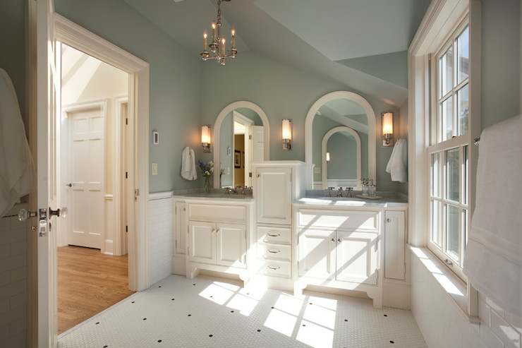 Wythe Blue - Traditional - bathroom - Benjamin Moore Wythe