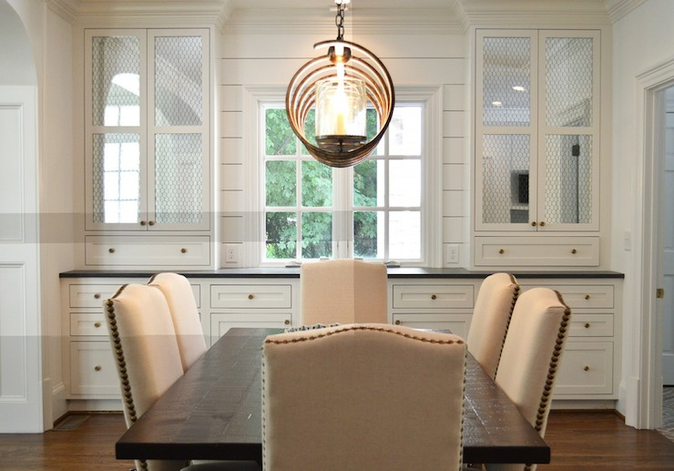 View Full Size Beautiful Dining Room Boasts Built In