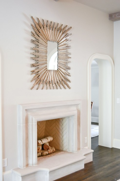 Mirror Above Fireplace Design Ideas