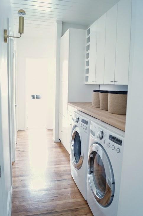 Foyer Laundry Room : Hallway laundry room transitional grey