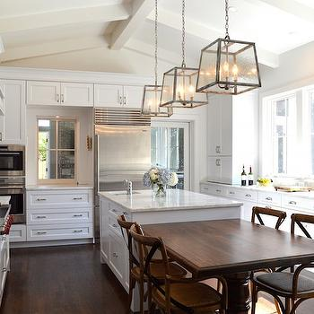 Kitchen Cabinets Vaulted Ceiling cream kitchen cabinets - transitional - kitchen - murphy & co. design