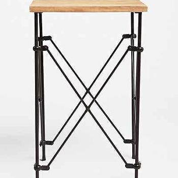 Brown And Black Wood Accordion Side Table