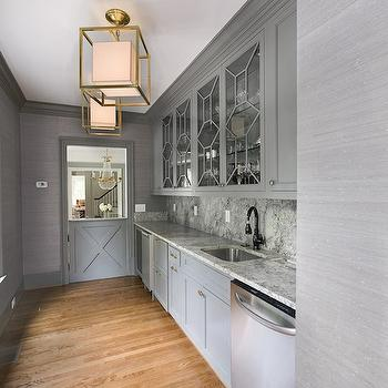 Gray Butlers Pantry, Transitional, kitchen, Either Orr