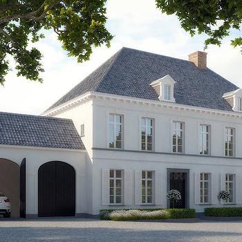 Black Garage Doors, French, home exterior