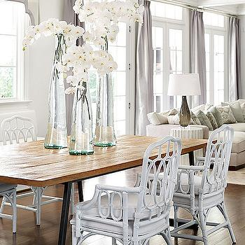 Teak Dining Table, Transitional, dining room, Traditional Home