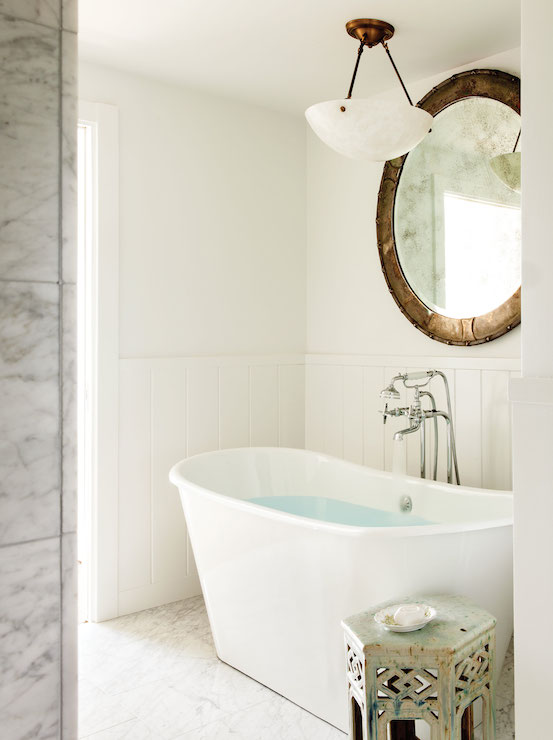Lighting Over Bathtub Transitional Bathroom C Magazine