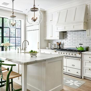 black and white kitchen with extended kitchen island beth haley design