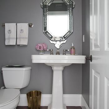 Dark Gray Paint Colors Contemporary Bathroom