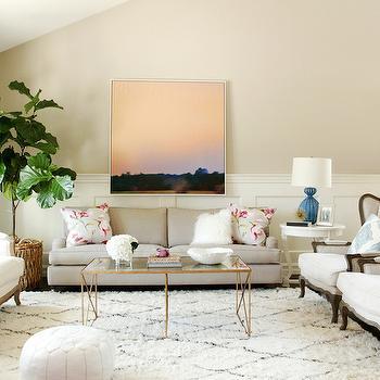 Aerin Gannet Table Lamp, Transitional, living room, Shea McGee Design