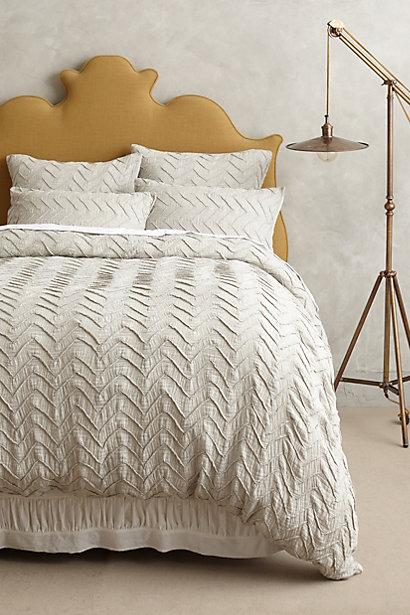 Organic Chevron Duvet Cover Shams West Elm