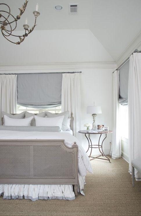 Gray Baroque Headboard French Bedroom