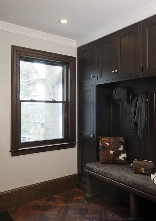 Dark Mudroom Cabinets Transitional Laundry Room