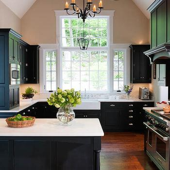 White and Black KItchens, Transitional, kitchen, Crown Point Cabinetry