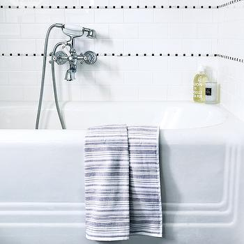 Black and White Bathroom Tiles, Contemporary, bathroom, Style at Home