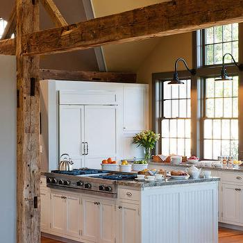 Kitchen Island With Beadboard Trim Country Kitchen