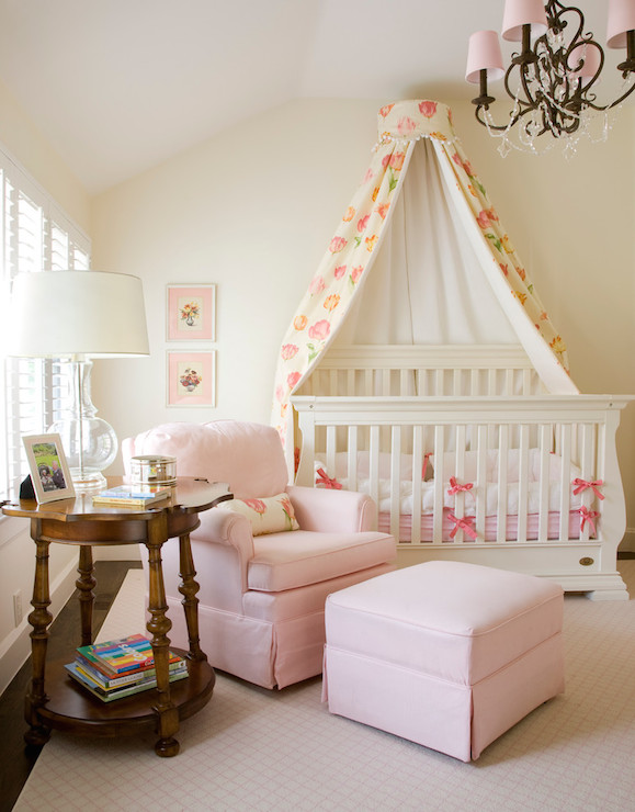 Bedroom benjamin moore paris rain for Drapes over crib