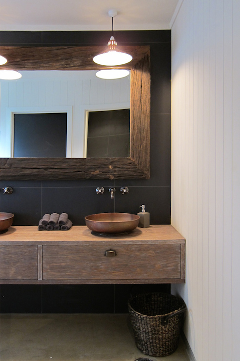 Reclaimed Wood Vanity Modern Bathroom Bhg
