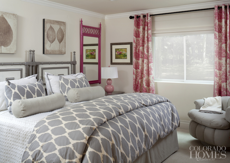 Pink And Gray Bedrooms Contemporary Bedroom Colorado Homes Lifestyles