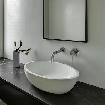 Oval Vessel Sink, Modern, bathroom, Bureaux Limited