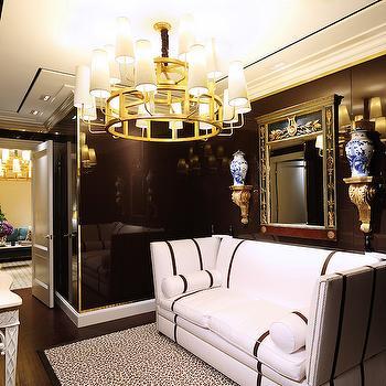 Black and White Sofa, Contemporary, entrance/foyer