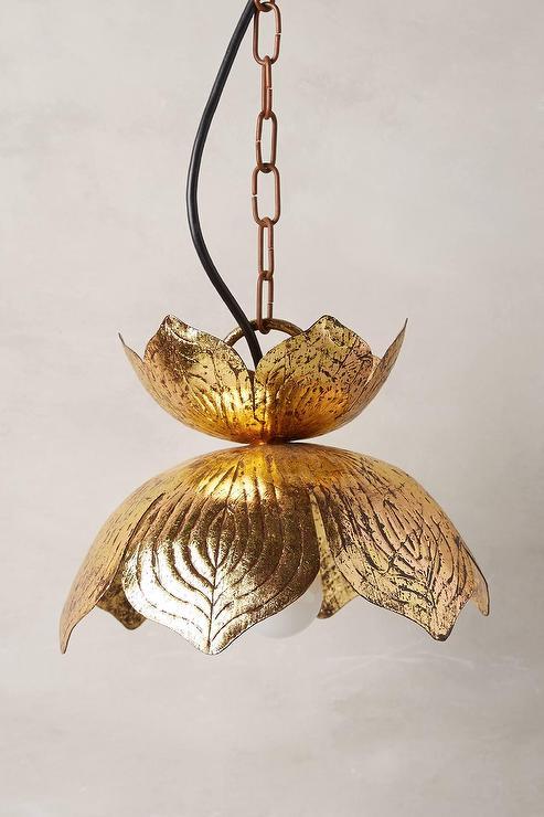 Brass lotus pendant lamp aloadofball Images