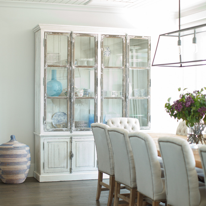 Whitewashed China Cabinet