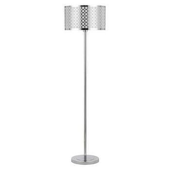 chicago glass silver floor lamp - Silver Floor Lamp