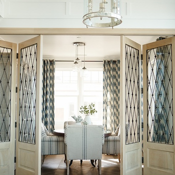 Leaded Glass Doors, Transitional, dining room, Owens and Davis