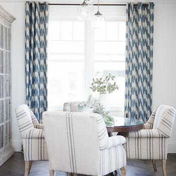 Chevron Drapes, Transitional, dining room, Owens and Davis
