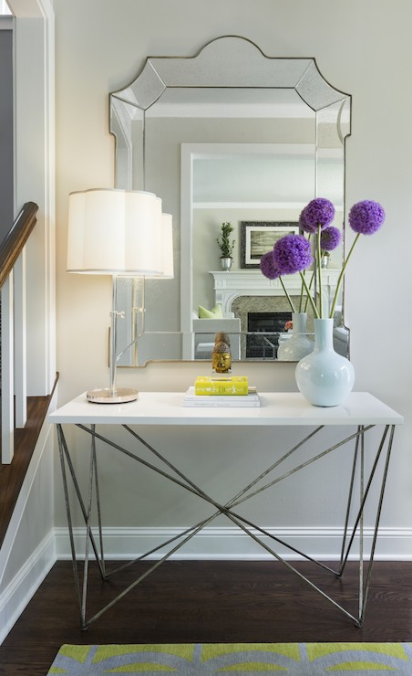 Contemporary Foyer Table And Mirror : Oly studio george console table contemporary entrance