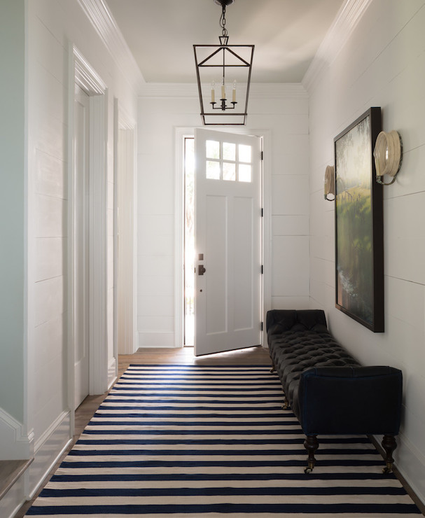 Entry Hall Ideas: Black Tufted Bench