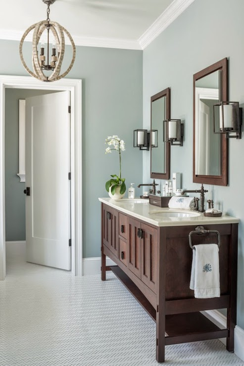 Gray Wisp Transitional Bathroom Benjamin Moore Gray