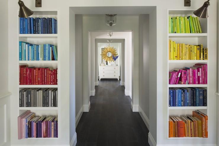 Books Arranged by Color - Contemporary - entrance/foyer - Martha O ...