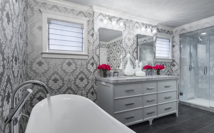 Black Mirrored Vanity - Transitional - bathroom - Elsie Interior