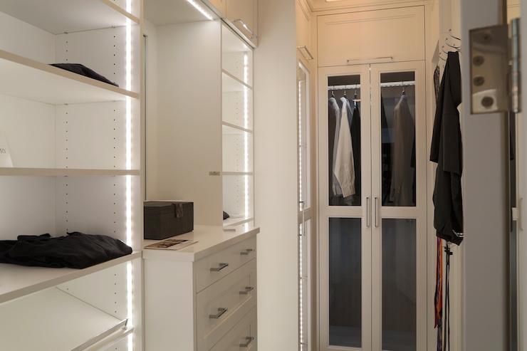 Narrow Walk In Closet Design Ideas