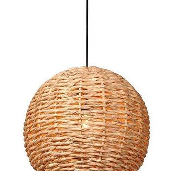 Water Hyacinth Ball Pendant Light design by Emissary I Burke Decor