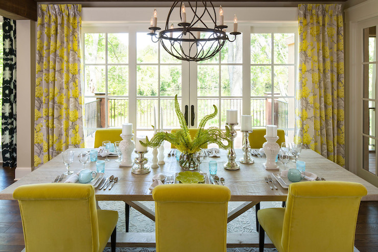 Yellow Dining Chairs Transitional Dining Room Sherwin Williams Awesome Yellow Dining Room
