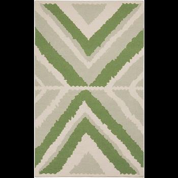 Alameda Ivory, Light Grey, & Moss Rug design by Beth Lacefield I Burke Decor