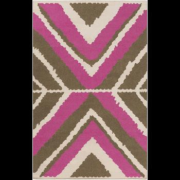 Alameda Ivory, Hot Pink, & Olive Rug design by Beth Lacefield I Burke Decor