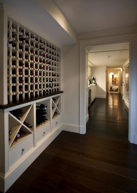 Built in wine racks transitional basement nantucket for Wine rack built in