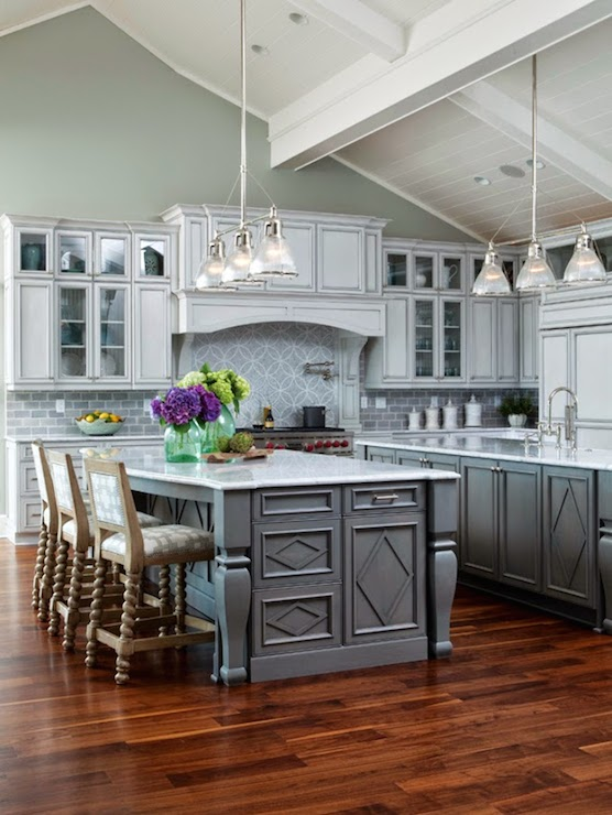Double Kitchen Islands Transitional kitchen Restoration – Restoration Hardware Kitchen Cabinets