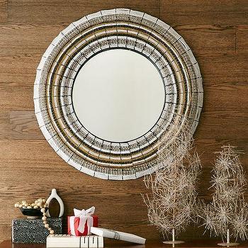 Beaded Round Mirror, West Elm