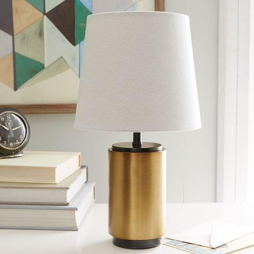 Pillar brass table lamp small pillar brass table lamp aloadofball Gallery