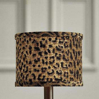 Gold And Ivory Animal Print Limited Edition Lamp Shade