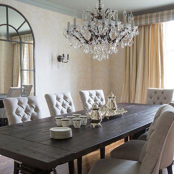 Capiz chandelier transitional dining room lillian august - Transitional dining room chandeliers ideas ...
