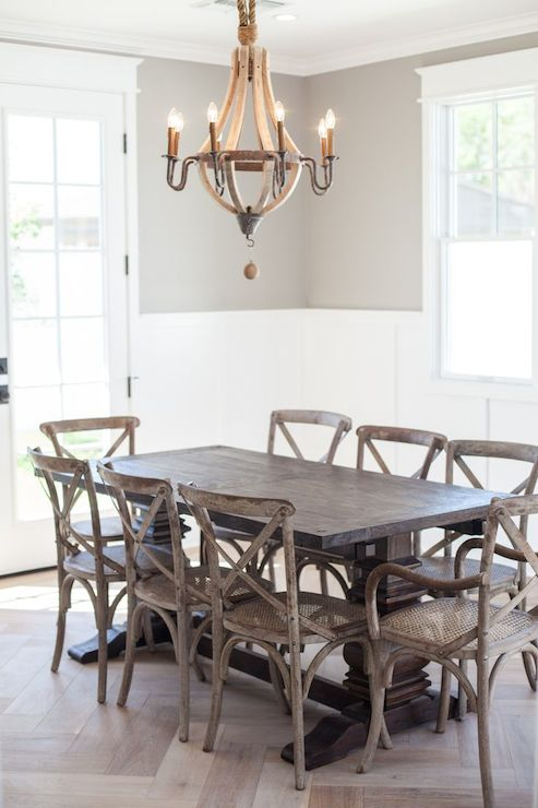 Wine barrel chandelier transitional dining room rafterhouse wine barrel chandelier aloadofball Image collections