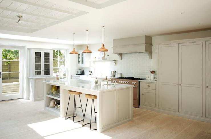 Copper Island Lights  Transitional  kitchen  Devol Kitchens
