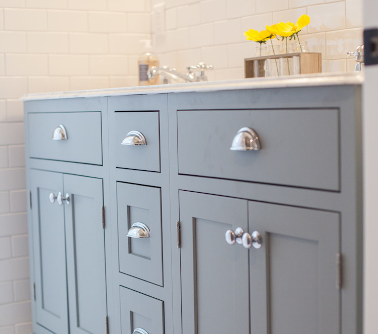 Bathroom Vanities Knobs Or Pulls grey sink vanity - transitional - bathroom - rafterhouse